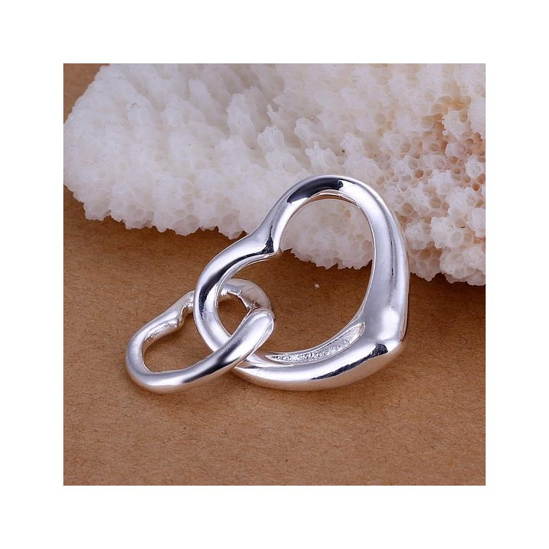 Wholesale Romantic Silver Heart Pendants TGSPP003