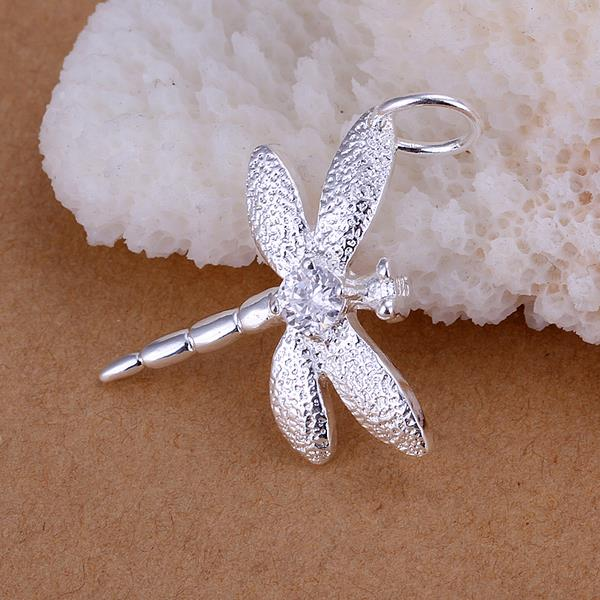 Wholesale Romantic Silver Insect CZ Pendants TGSPP006