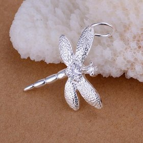 Romantic Silver Insect CZ Pendants