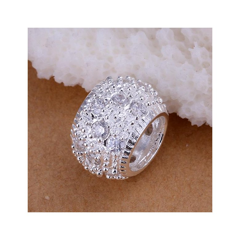 Wholesale Trendy Silver Round CZ Pendants TGSPP014