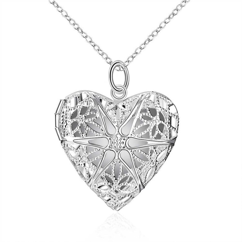 Wholesale Romantic Silver Heart Pendants TGSPP074