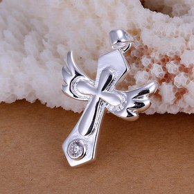 Wholesale Trendy Silver Cross CZ Pendants TGSPP080