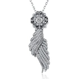 Wholesale Wholesael Fashion 925 Sterling Silver Sail CZ Necklace TGSSN101