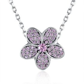 Wholesale Fashion 925 Sterling Silver Plant CZ Necklace TGSSN124