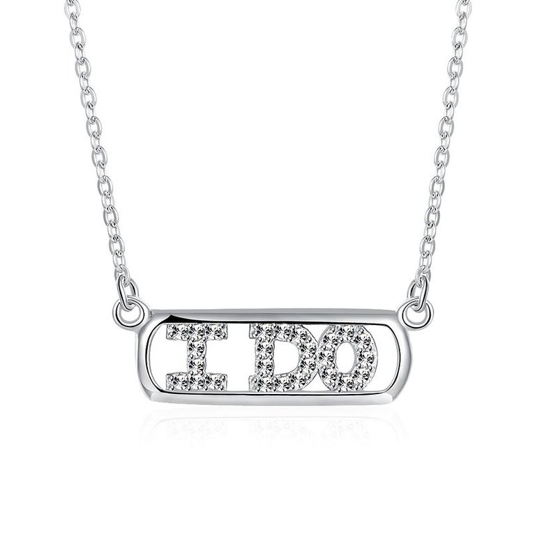 Wholesale 925 Silver I Do CZ Necklace TGSSN147