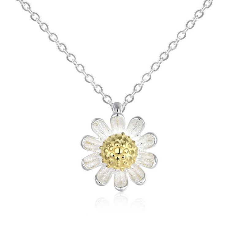 Wholesale 925 Silver Chrysanthemum Necklace TGSSN157