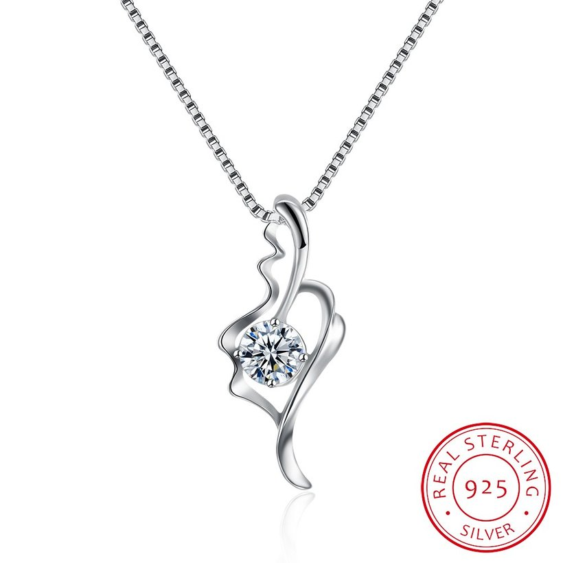 Wholesale Fashion 925 Sterling Silver CZ Romantic Necklace TGSSN014