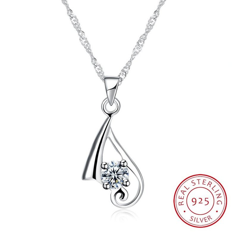Wholesale New Fashion 925 Sterling Silver CZ Necklace TGSSN084