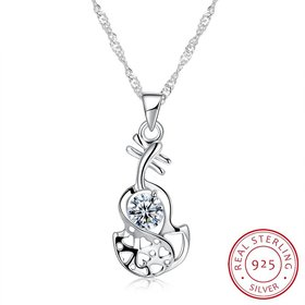 Wholesale Creative Style 925 Sterling Silver CZ Necklace TGSSN085