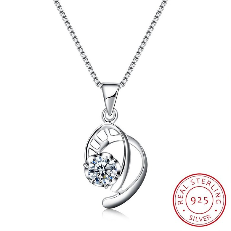 Wholesale 2018 New Style 925 Sterling Silver CZ Necklace TGSSN087