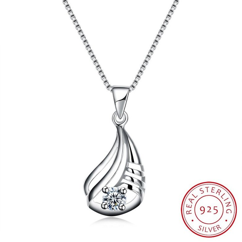 Wholesale Discount Fashion 925 Sterling Silver CZ Necklace TGSSN090
