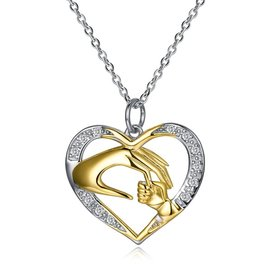 new gem-set Romantic heart Pure S925 Sterling Silver Necklace