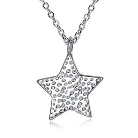 Wholesale Little star Pure S925 Sterling Silver pendant Necklace TGSSN021