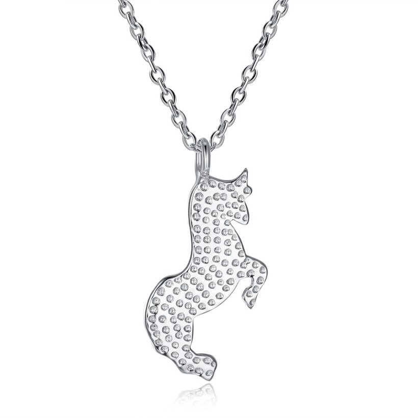 Wholesale Frosting bullfight pure S925 Sterling Silver pandent Necklace TGSSN041