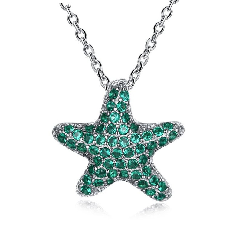Wholesale Starfish Creative pure S925 Sterling Silver pandent Necklace TGSSN046
