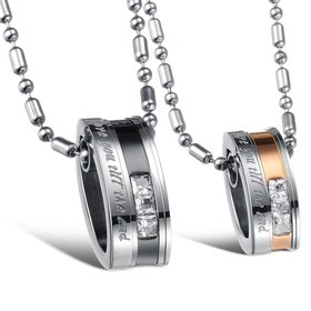 Wholesale Hot selling fashion stainless steel couples Necklace TGSTN028