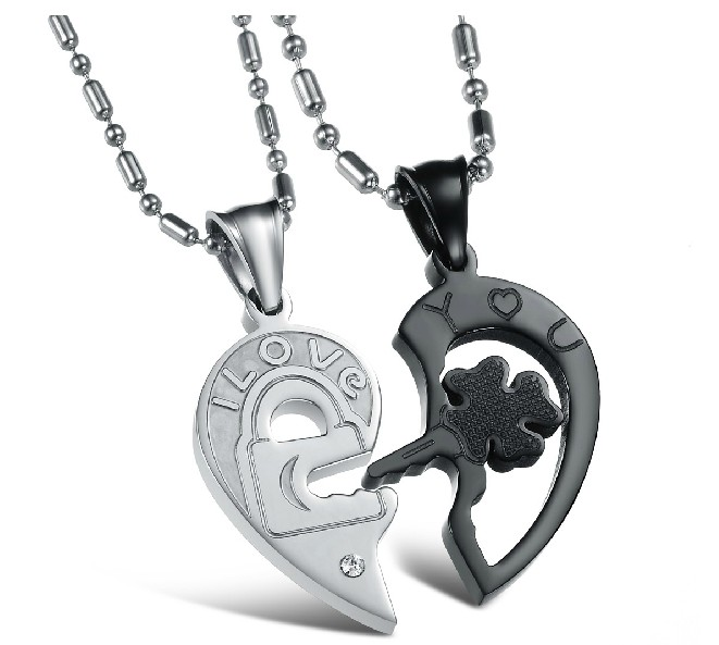 Wholesale The best gifts stainless steel couples Necklacepair TGSTN029 0