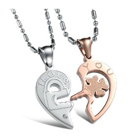 Wholesale The best gifts stainless steel couples Necklacepair TGSTN029