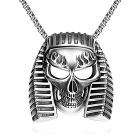 Wholesale Punk 316L stainless steel Skeleton Necklace TGSTN085