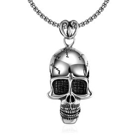 Wholesale Punk 316L stainless steel Skeleton Necklace TGSTN098