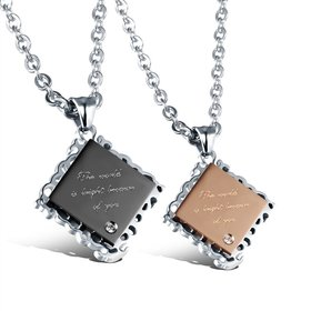 Wholesale New Style Fashion Stainless Steel Couples necklaceLovers TGSTN024