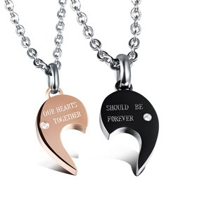 Wholesale New Style Fashion Stainless Steel Couples necklaceLovers TGSTN020