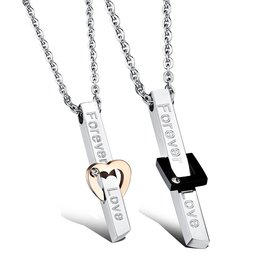 Wholesale New Style Fashion Stainless Steel Couples necklaceLovers TGSTN022