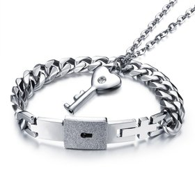Wholesale Style Fashion Stainless Steel Couples necklaceLovers TGSTN005