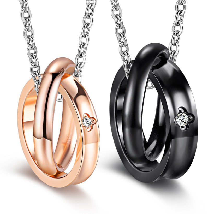 Wholesale Fashion Stainless Steel Couples necklaceLovers TGSTN009