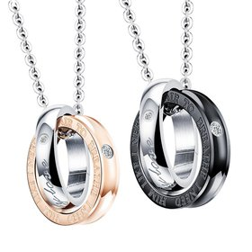 Wholesale New Fashion Stainless Steel Couples necklaceLovers TGSTN012