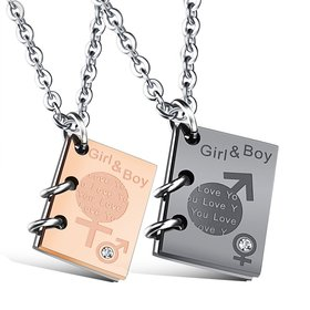 Wholesale New Fashion Stainless Steel Couples necklaceLovers TGSTN017