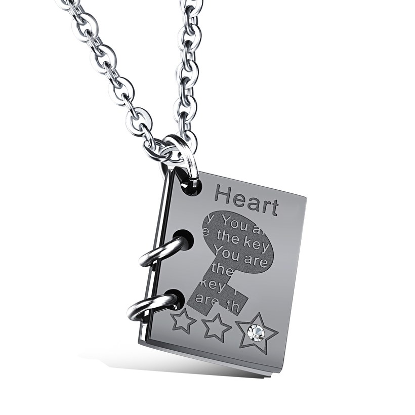 Wholesale New Fashion Stainless Steel Couples necklaceLovers TGSTN003 1