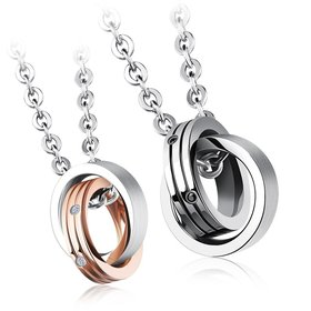 Wholesale New Fashion Stainless Steel Couples necklaceLovers TGSTN019