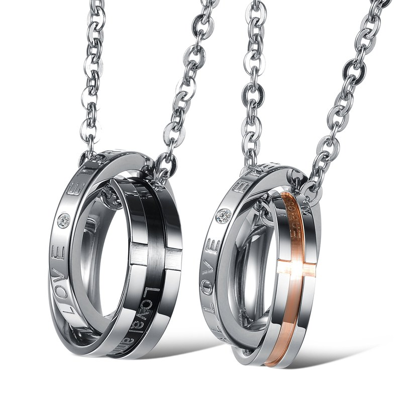 Wholesale Hot selling fashion stainless steel couples Necklace TGSTN063