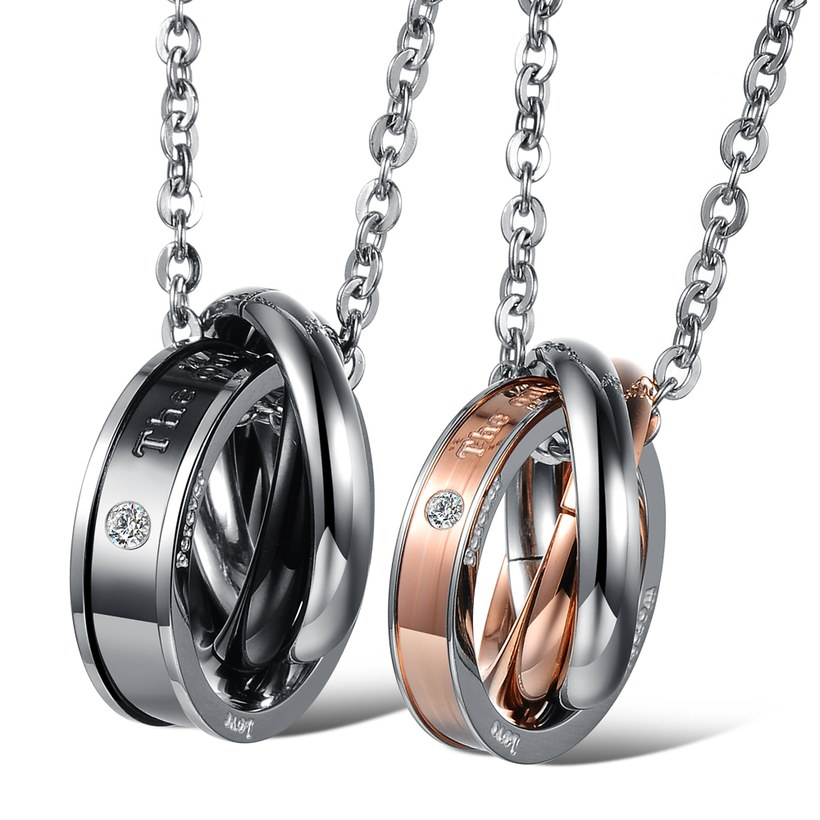 Wholesale Hot selling fashion stainless steel couples Necklace TGSTN125