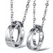 Wholesale Fashion stainless steel CZ couples Necklace TGSTN026