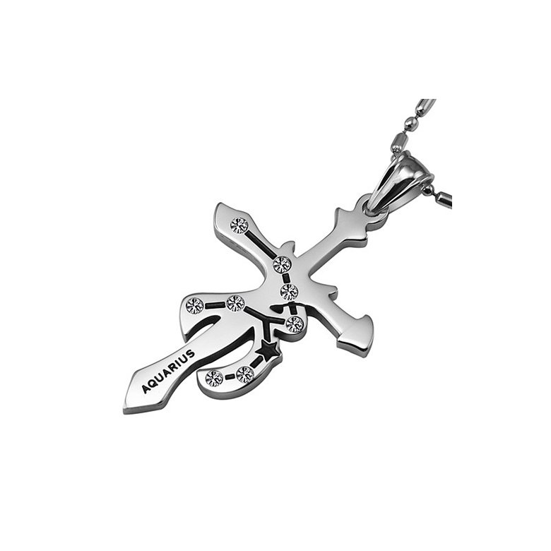 Wholesale Aquarius Constellations 316L Stainless Steel Necklace TGSTN069