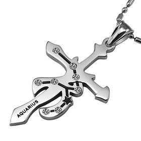 Aquarius Constellations 316L Stainless Steel Necklace