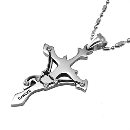 Wholesale Cancer Constellations 316L Stainless Steel Necklace TGSTN074