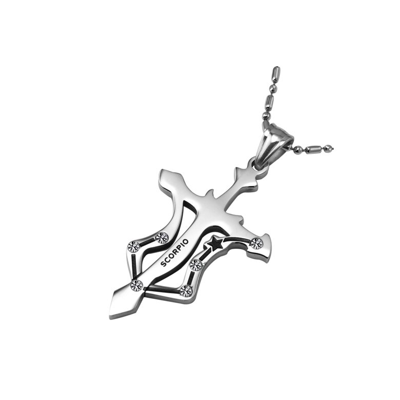 Wholesale Scorpio Constellations 316L Stainless Steel Necklace TGSTN078