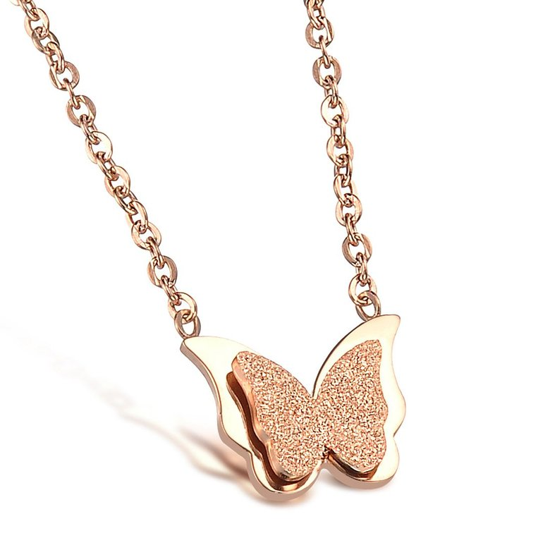 Wholesale Hot selling fashion jewelry stainless steel butterfly Necklace TGSTN131
