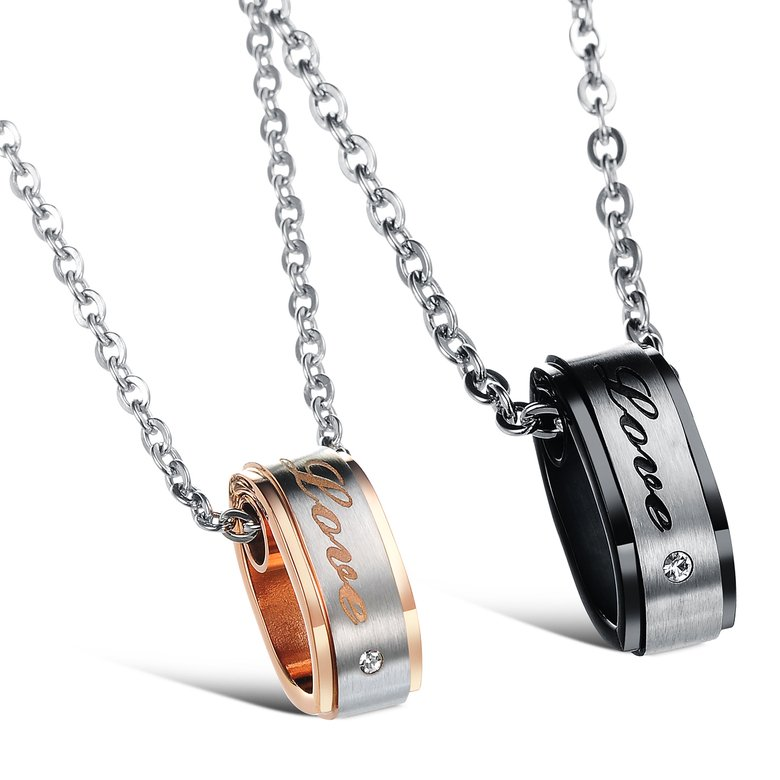 Wholesale Hot selling fashion stainless steel couples Necklace TGSTN120