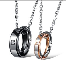 Wholesale Hot selling fashion stainless steel couples Necklace TGSTN035