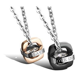 Wholesale Fashion jewelry Stainless Steel Couples Pendants TGSTN055