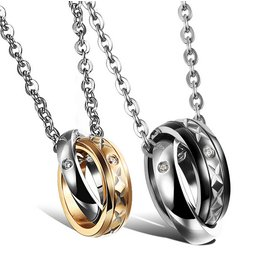Wholesale Fashion Stainless Steel Couples Pendants New ArrivalLover TGSTN057
