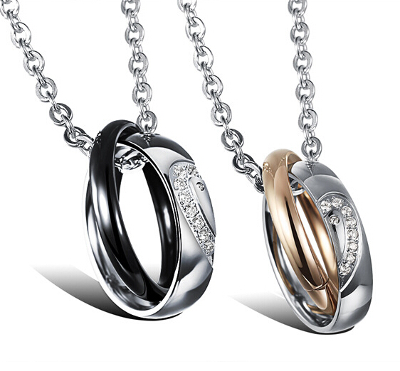 Wholesale New Style Fashion Stainless Steel Couples necklace New ArrivalLover TGSTN058