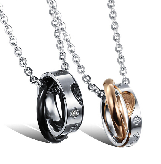 Wholesale New Style Fashion Stainless Steel Couples necklace New ArrivalLover TGSTN060