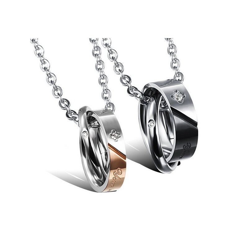 Wholesale New Style Fashion Stainless Steel Couples necklace New ArrivalLover TGSTN061