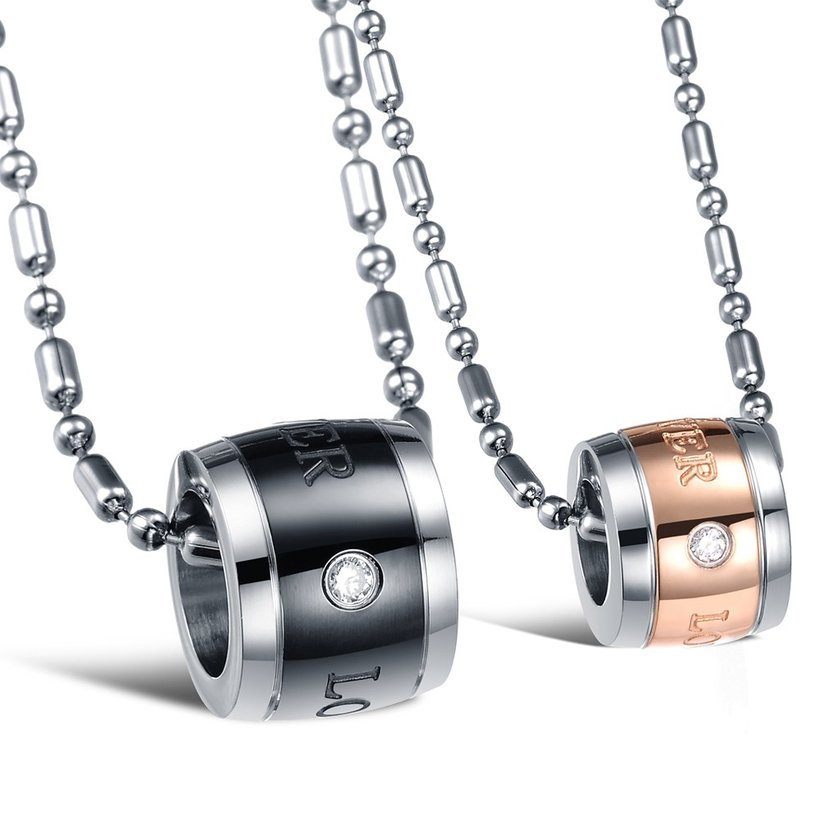 Wholesale Hot sale Stainless steel necklace couples Forever Love Necklace TGSTN027