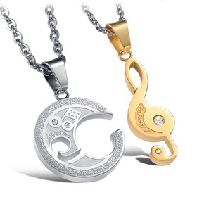 Wholesale The best gifts stainless steel collage couples Necklace TGSTN038